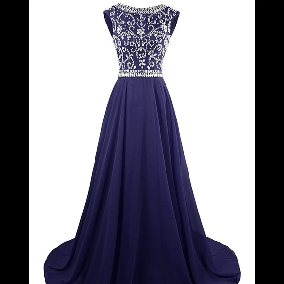 Dresses & Skirts - Navy Blue Gown